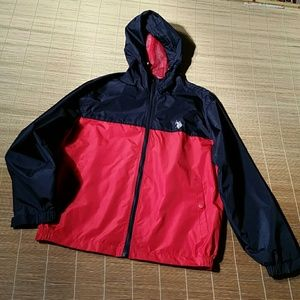 U.S. Polo Assn. Red and Blue Windbreaker. M